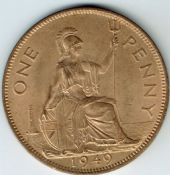 George VI, One Penny 1949, AUNC, M9438